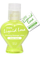 Mini Liquid Love Flavored Warming Massage Lotion Green...