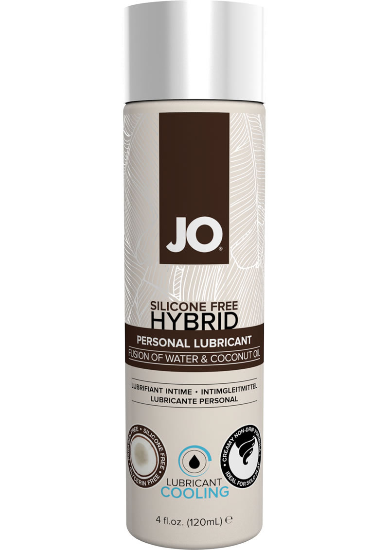 Silicone Free Hybrid Personal Cool Lubricant Water And Coconut Oil 4 Ounce